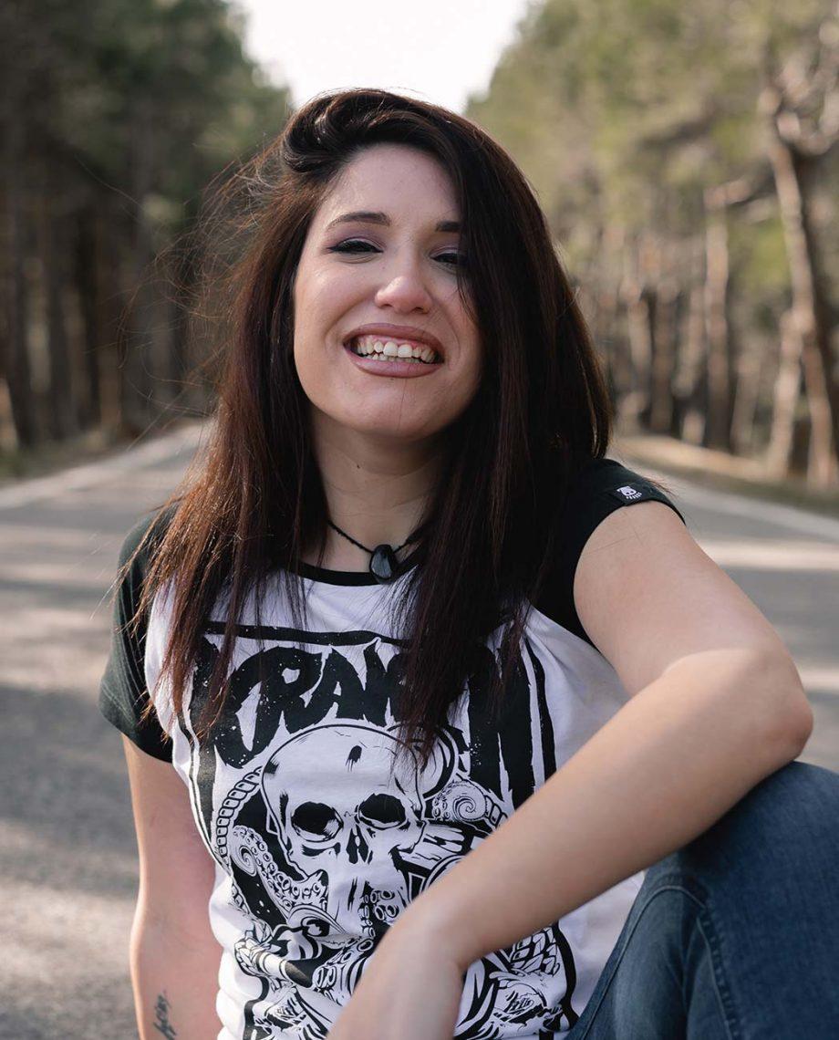 Camiseta manga corta Kraken contraste mujer