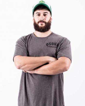 Camiseta manga corta gris jaspeado Osona