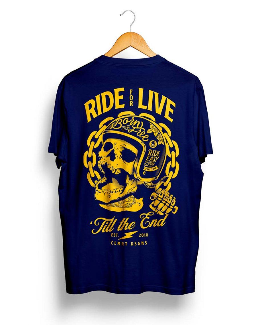 Camiseta manga corta ride or die hombre