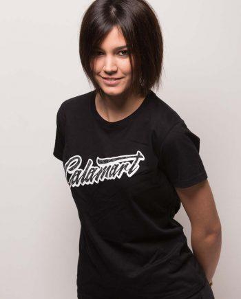 Camiseta manga corta logo mujer